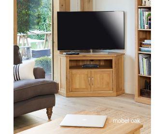Mobel Solid Oak Corner TV Cabinet