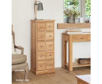 Mobel Solid Oak Multi-Drawer Storage Chest