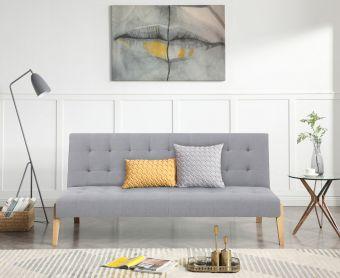 Jeri Grey Linen Sofa Bed