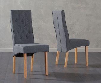 Jasper Grey Fabric Chair