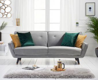 Lance 3 Seater Sofa in Grey Velvet