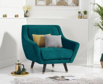 Lance Armchair in Green Velvet