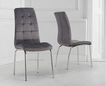 Calgary Grey Velvet Dining Chairs