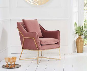 Lillia Blush Velvet Accent Chair