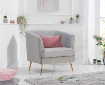 Lucern Grey Linen Armchair