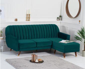 Luciana Reversible Sofa Bed in Green Velvet