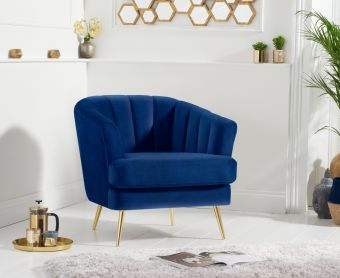 Lulu Armchair in Blue Velvet