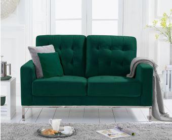 Larma Green Velvet 2 Seater Sofa
