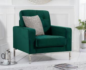 Larma Green Velvet Armchair