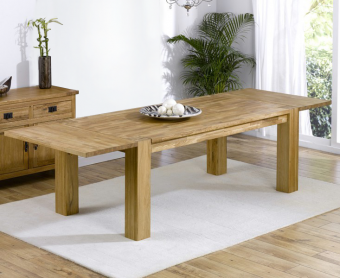 Madrid 200cm Solid Oak Extending Dining Table