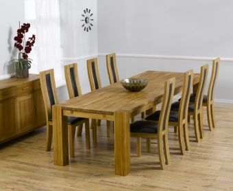Madrid 300cm Solid Oak Dining Table with Toronto Chairs