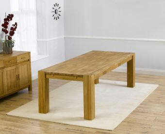 Madrid 240cm Solid Oak Dining Table