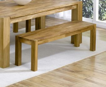 Madrid Solid Oak Bench