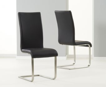 Malaga Black Dining Chairs (Pairs)