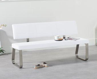 Malaga Large White Bench