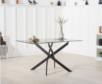 Montigue 120cm Rectangular Glass Dining Table