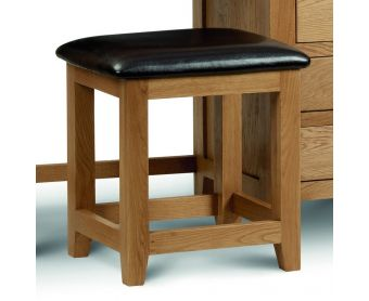 Marlborough Oak & Leather Dressing Table Stool