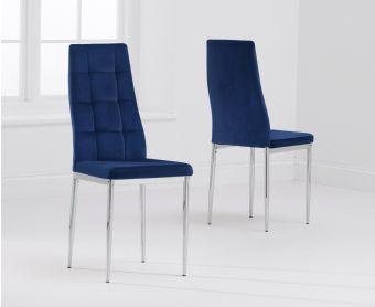 Melissa Blue Velvet Dining Chairs