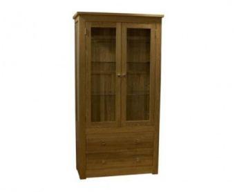 Reno 100cm Oak Glazed Display Cabinet
