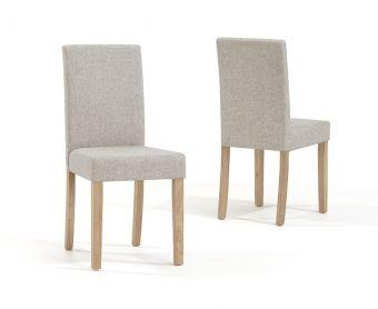 Mia Cream Fabric Chairs (Pairs)