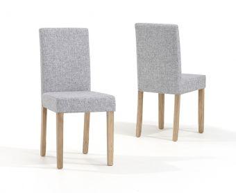 Mia Grey Fabric Chairs (Pairs)