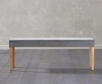 Mia Large Plush Grey Bench