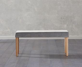 Mia Small Plush Grey Bench