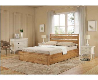 Modena Solid Oak Super King Size Ottoman Bed