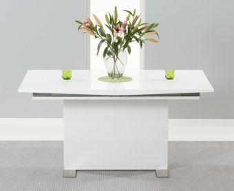 Modena 150cm White High Gloss Extending Dining Table