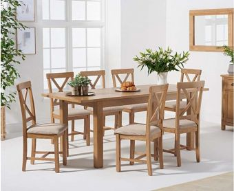 Nelly 160cm Extending Table with Cross Back Chairs