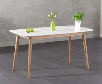 Newark 150cm Oak and White Dining Table