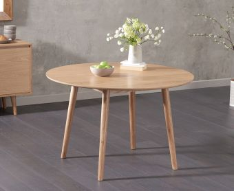 Newark Round 120cm Oak Dining Table