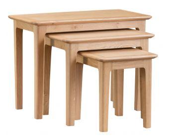 Suri Oak Nest of 3 Tables