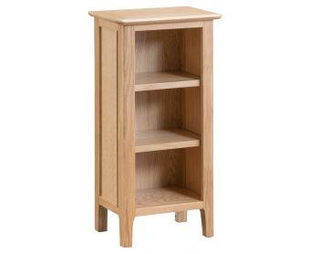 Suri Oak Small Narrow Bookcase