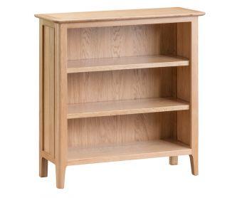 Suri Oak Small Wide Bookcase