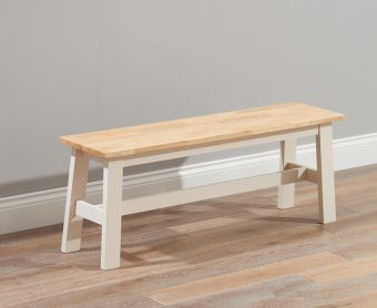 Chiltern Oak and Cream Large Bench