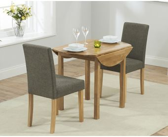 Oxford 90cm Solid Oak Extending Dining Table with Brown Mia Chairs