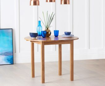 Oxford 90cm Solid Oak Extending Dining Table