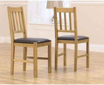 Oxford Brown Dining Chairs (Pairs)