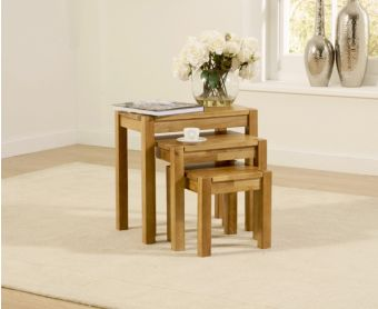 Oxford Solid Oak Nest of Tables