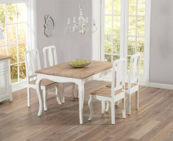 Parisian 130cm Shabby Chic Dining Table with Chairs