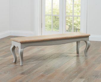 Parisian Grey Shabby Chic Large Bench