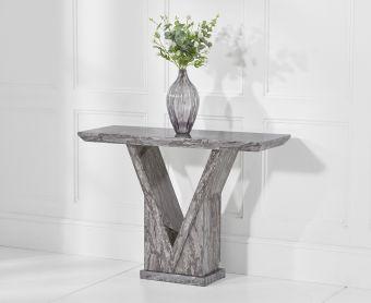 Mocha Grey Marble Console Table