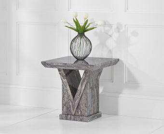 Mocha Grey Marble Side Table