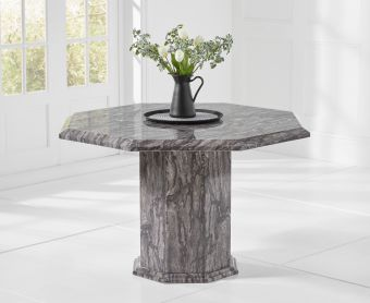 Crema Grey Octagonal Marble Dining Table