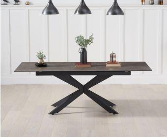 Bellagio 180cm Extending Mink Ceramic Dining Table