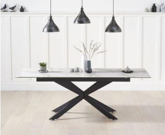 Bellagio 180cm Extending White Ceramic Dining Table