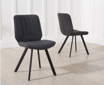 Dali Grey Faux Leather Chairs (Pairs)