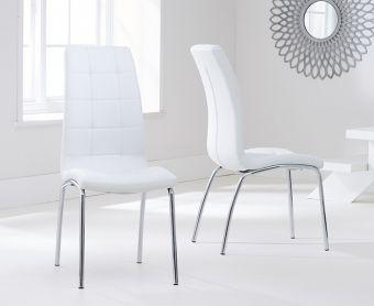 Calgary Ivory White Chairs (Pairs)