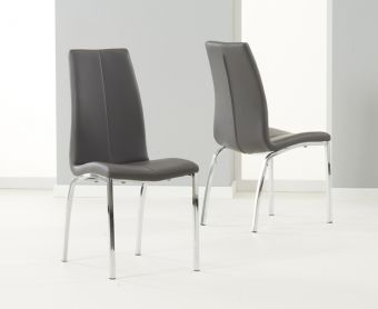 Cavello Charcoal Grey Chairs (Pairs)